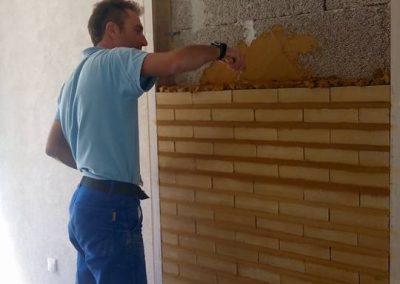 Maçonnerie de Briques de Terre Comprimée