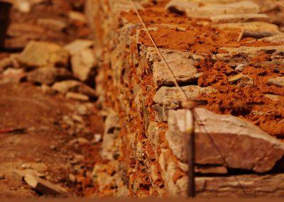 Maçonnerie de pierre hourdée à la terre