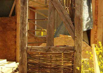 Détail technique sur pan de bois traditionnel